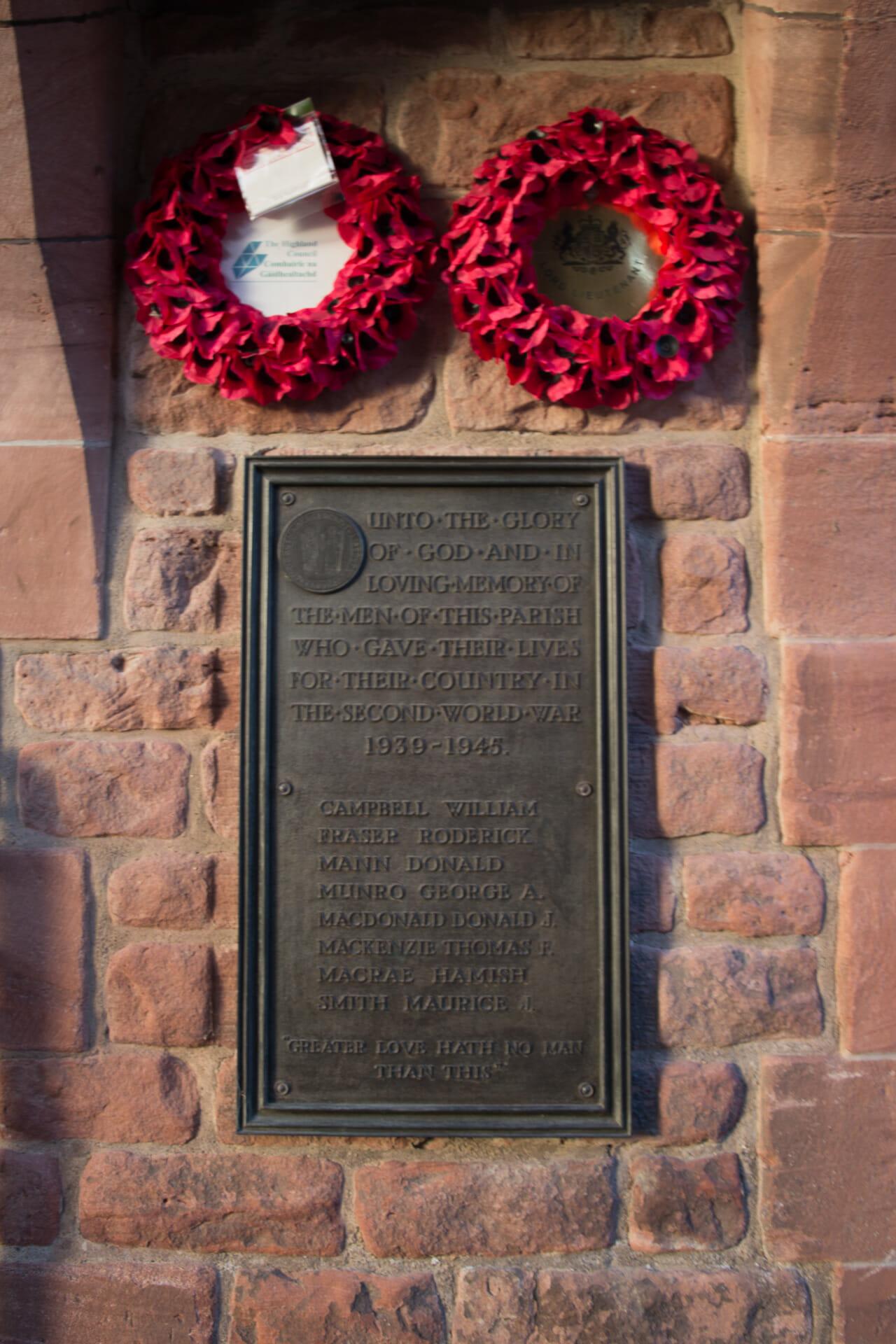 Kriegsdenkmal am Eingang zum Gelände