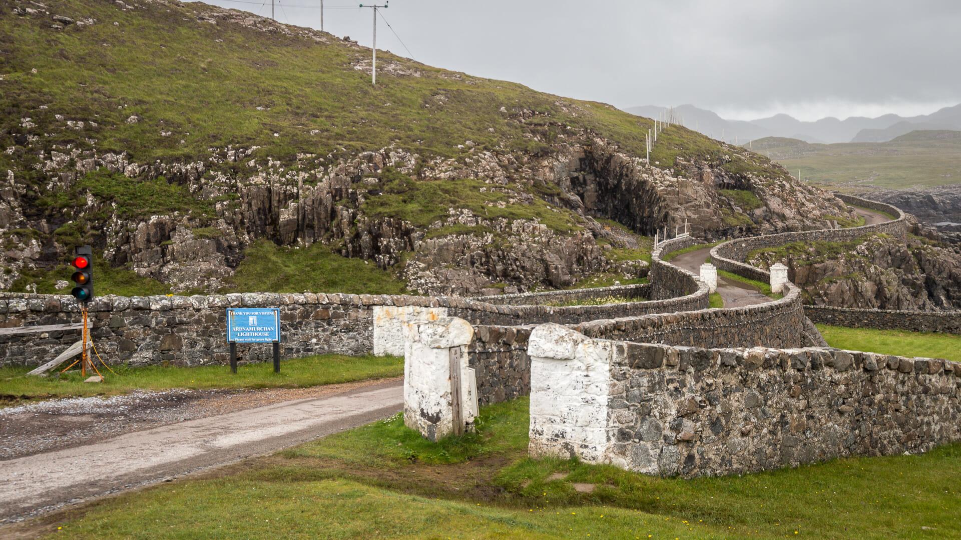 Das letzte Stück Straße zum Leuchtturm (von der Leuchtturmseite aus gesehen)