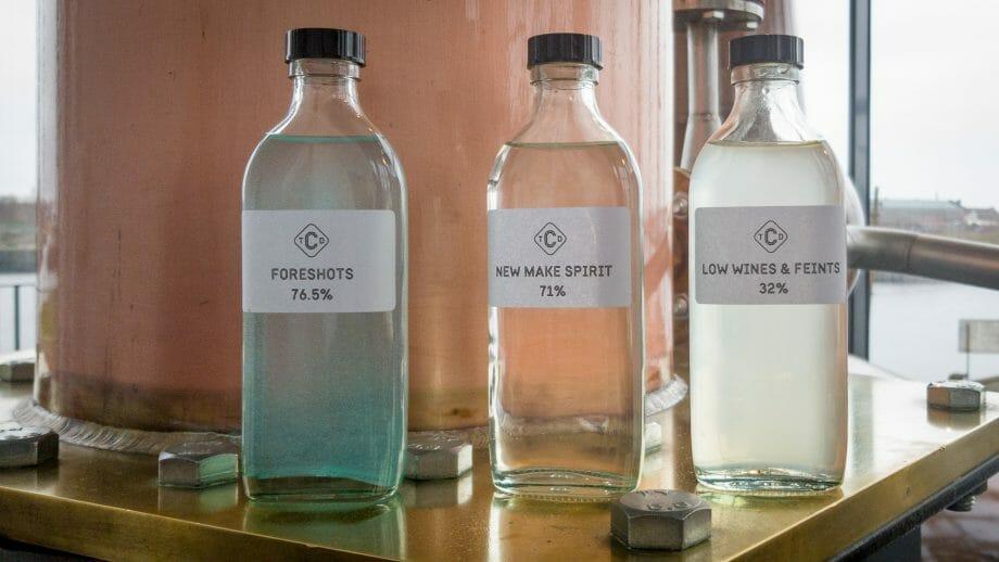 Vorlauf, Middlecut und Nachlauf von Whisky