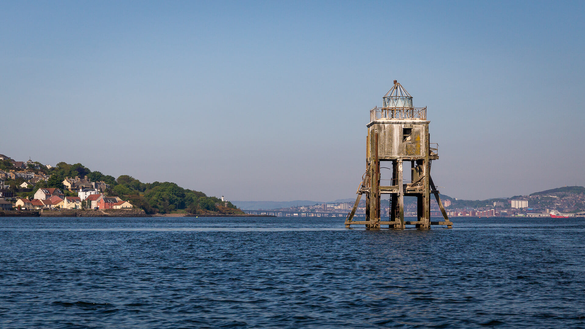 Das Pile Lighthouse im Firth of Tay