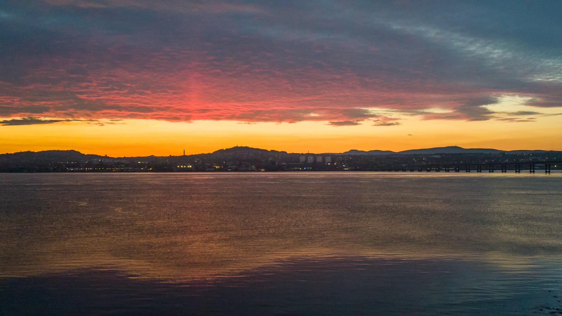 Dundee im Sonnenuntergang