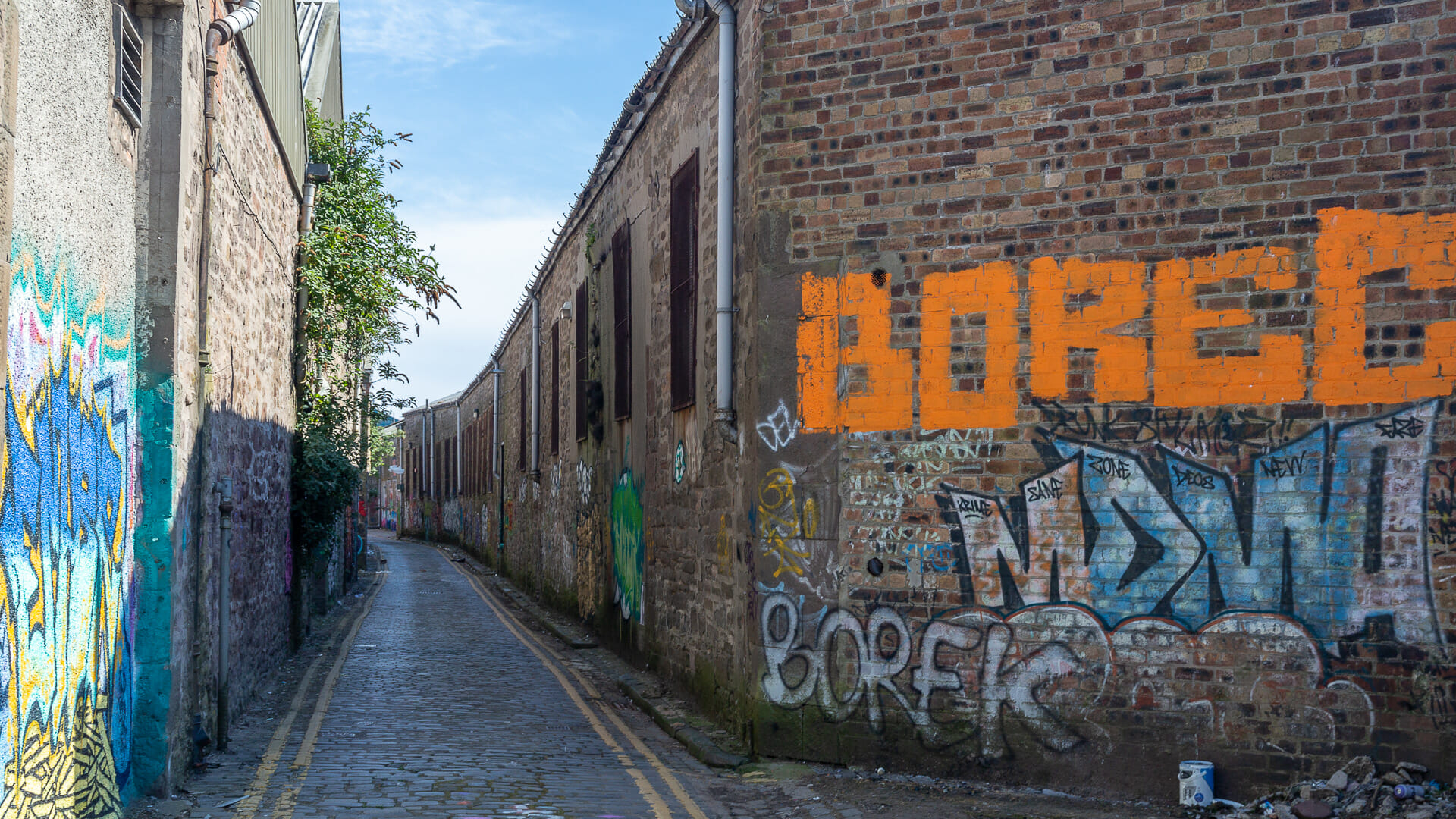 Graffiti-Gasse in Dundee