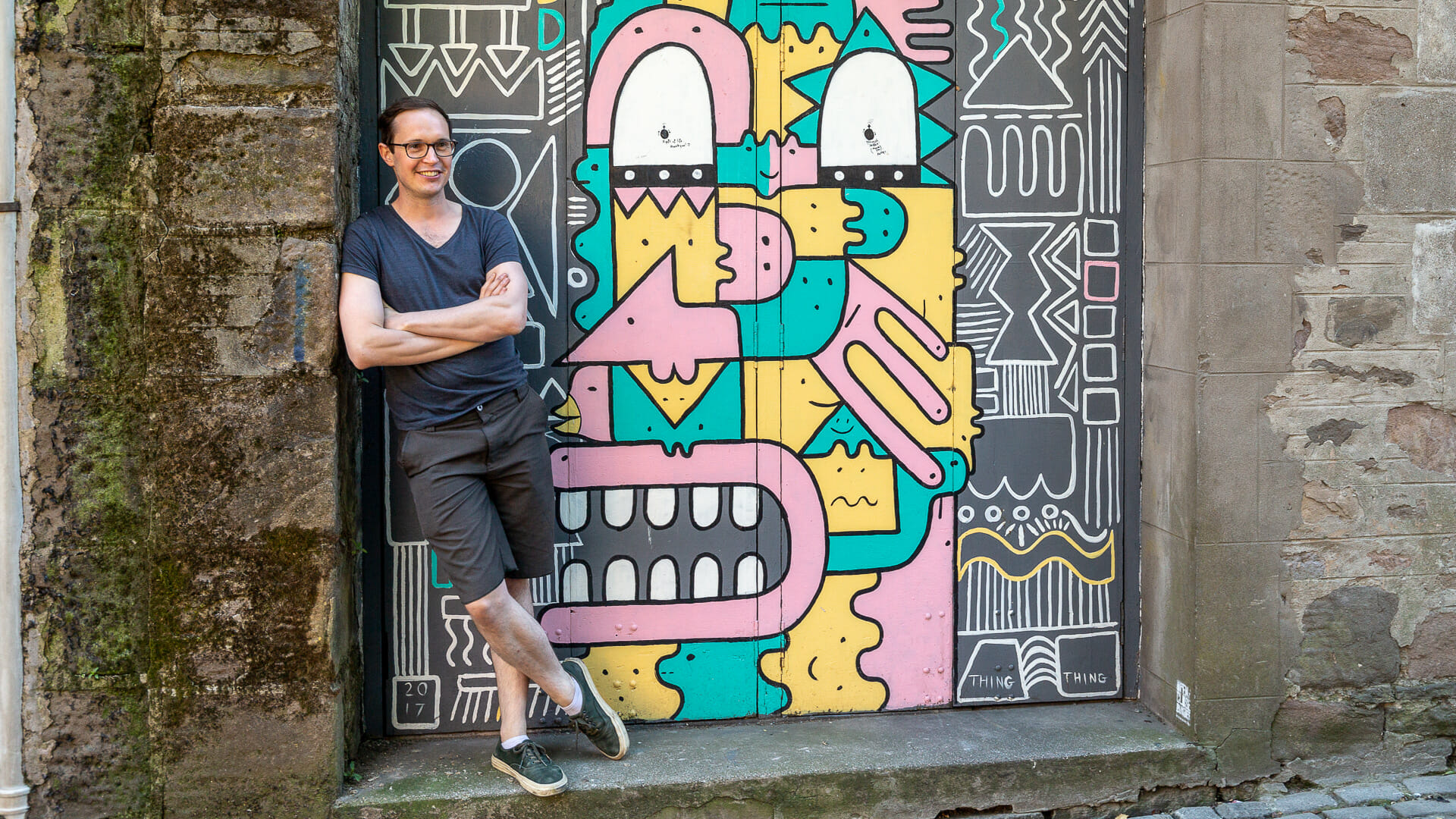 Russel Pepper, Organisator der Street Art Aktion in Dundee