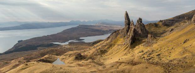 Die Gegend rund um den Old Man of Storr auf Trotternish, Skye