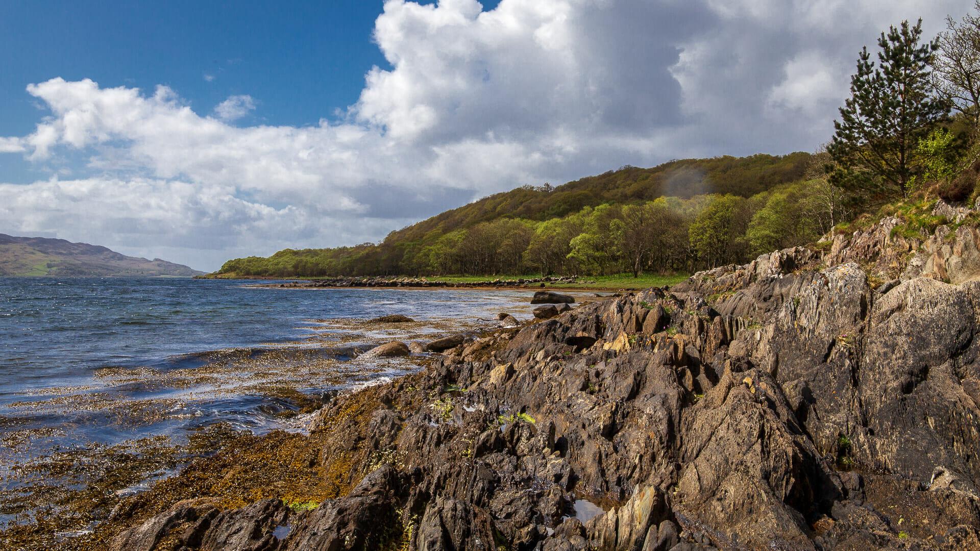 Am Strand von Loch Sween