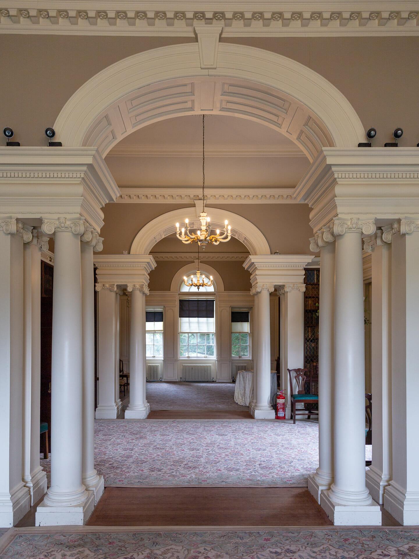 Durchgänge in der Bibliothek