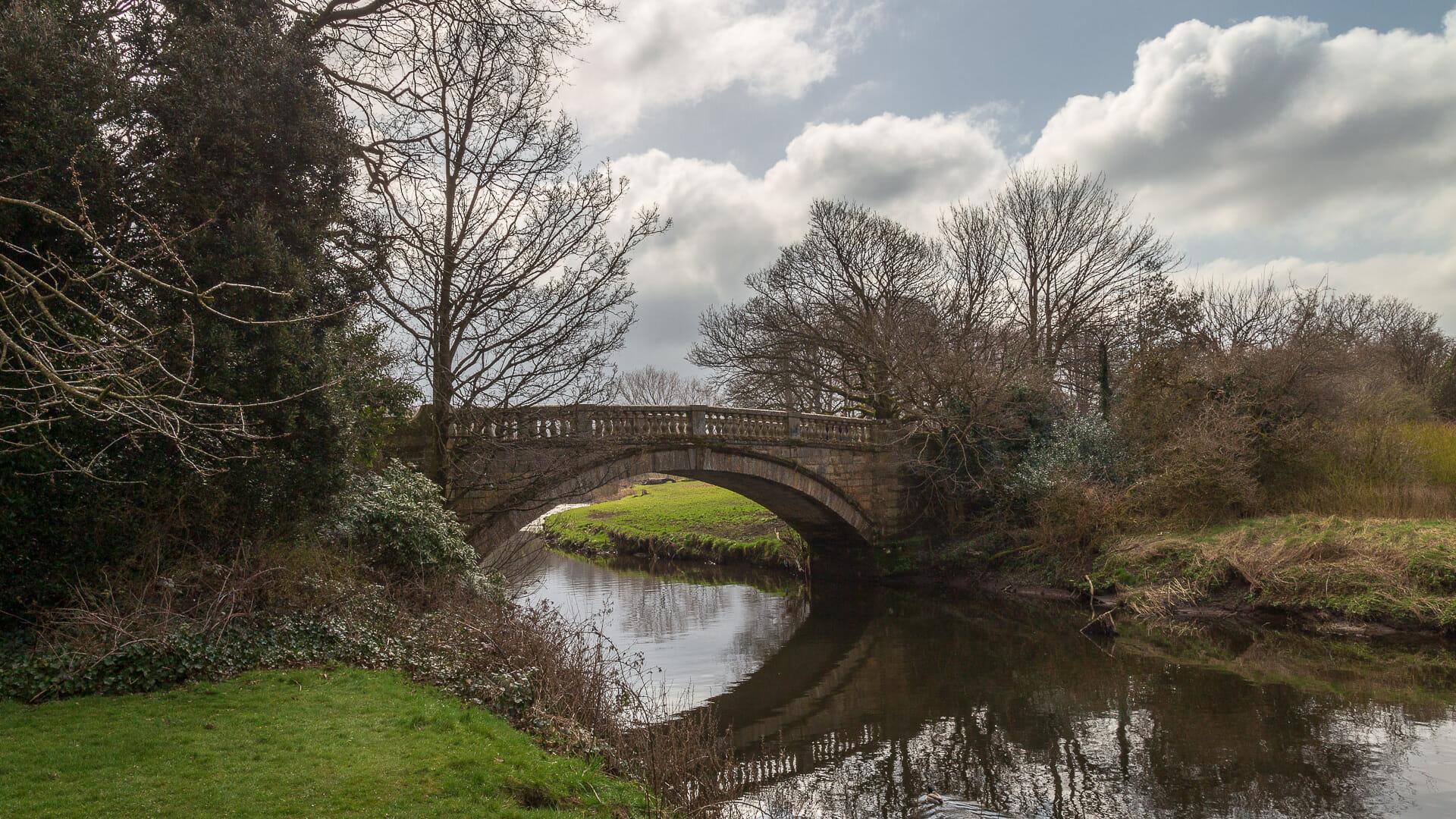 Brücke über das White Cart Water