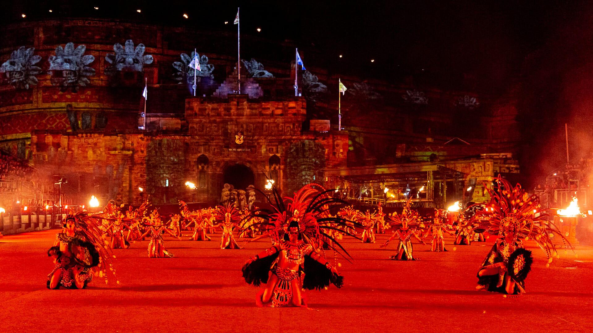 Die Adler Krieger tanzen