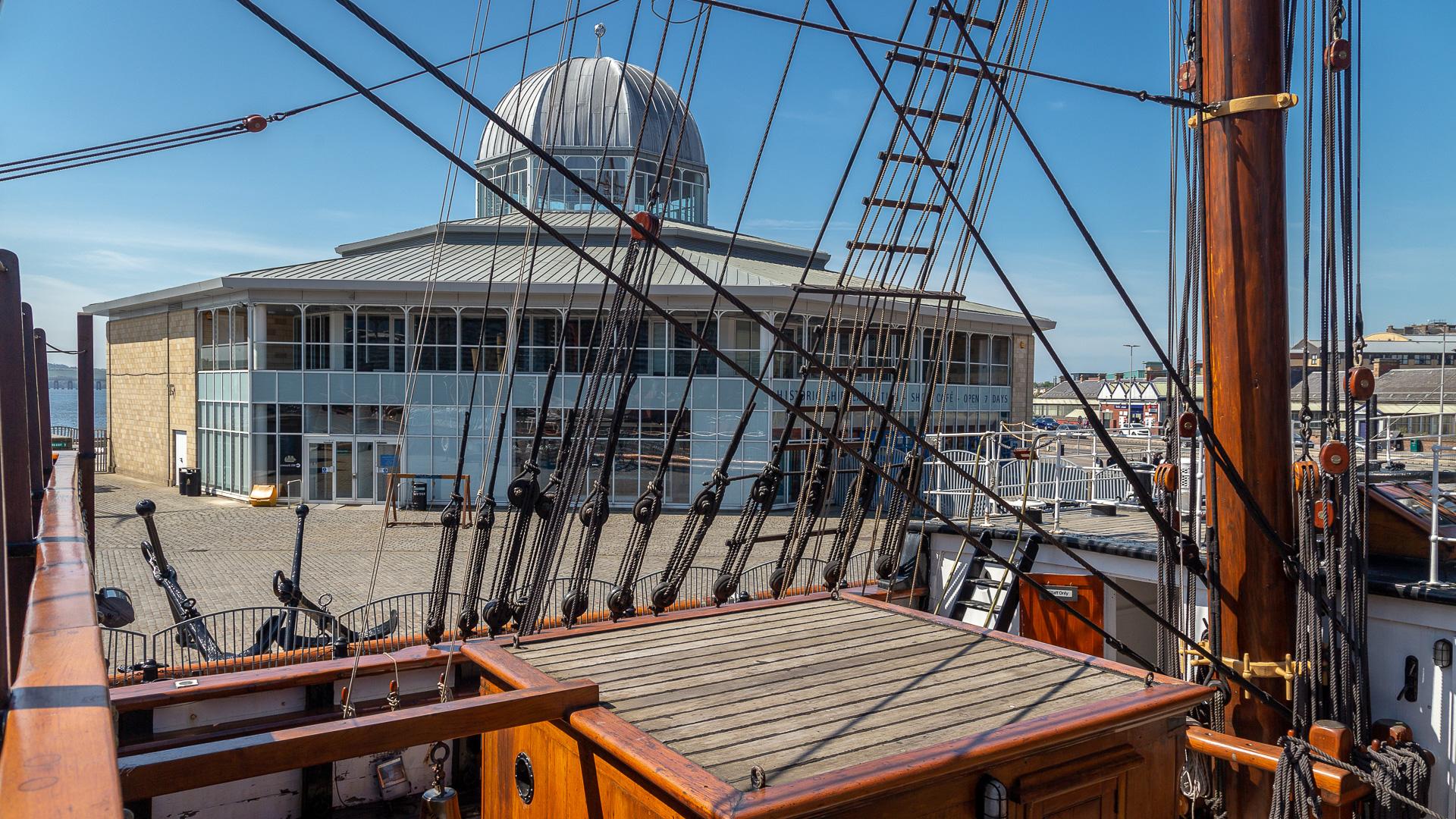 Der Pavillon von der Discovery aus gesehen