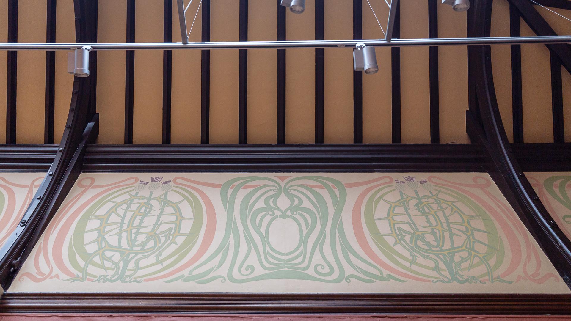 Das Deckenfries von Charles Rennie Mackintosh