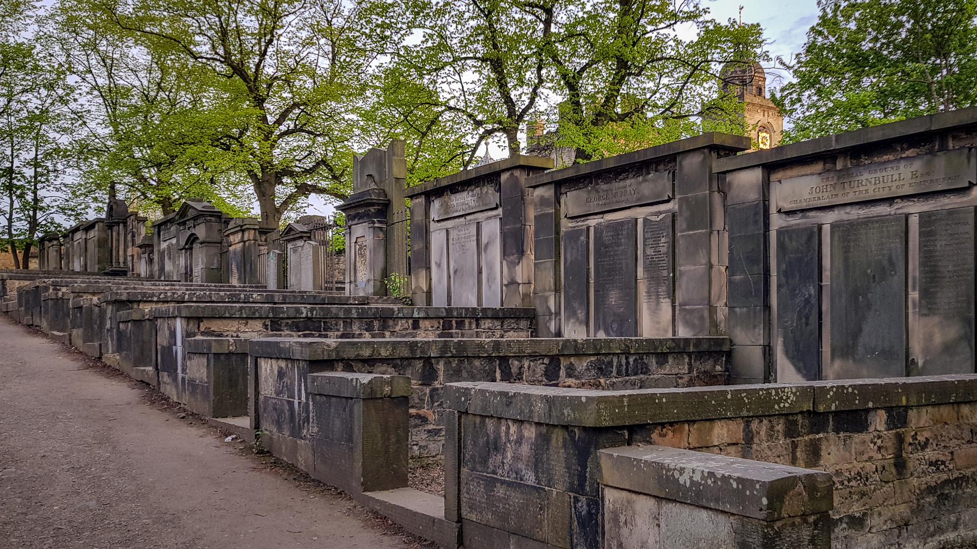 Gräber auf dem Greyfriars Kirkyard