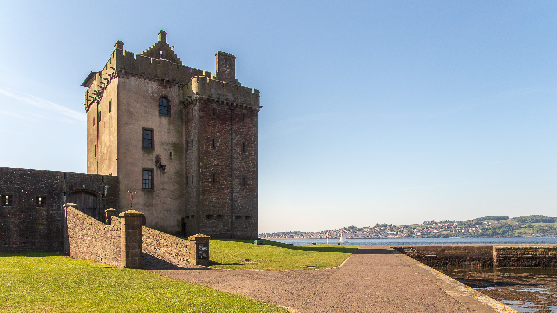 Eingang zur Broughty Castle