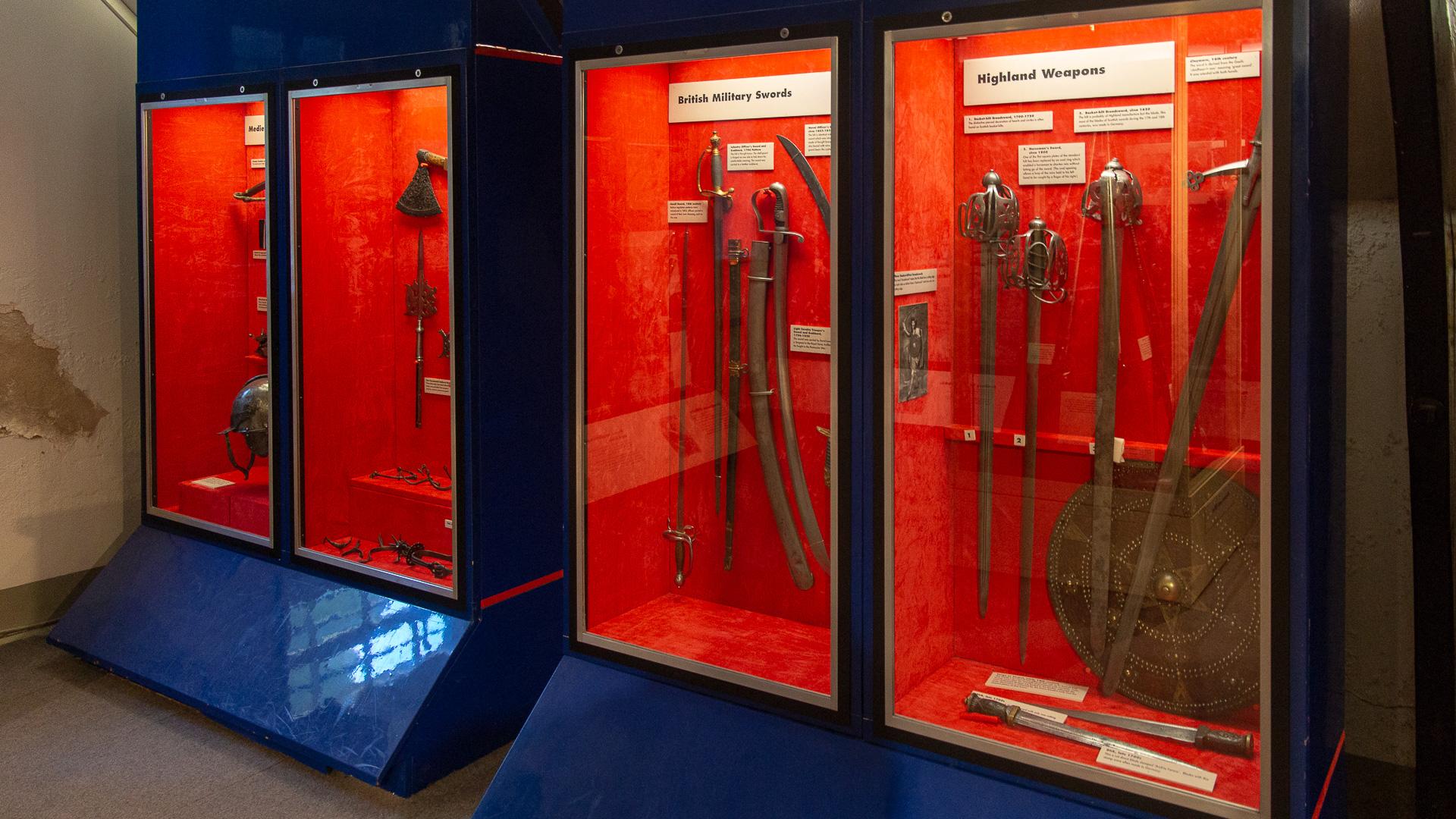 Ein Teil der Waffenausstellung