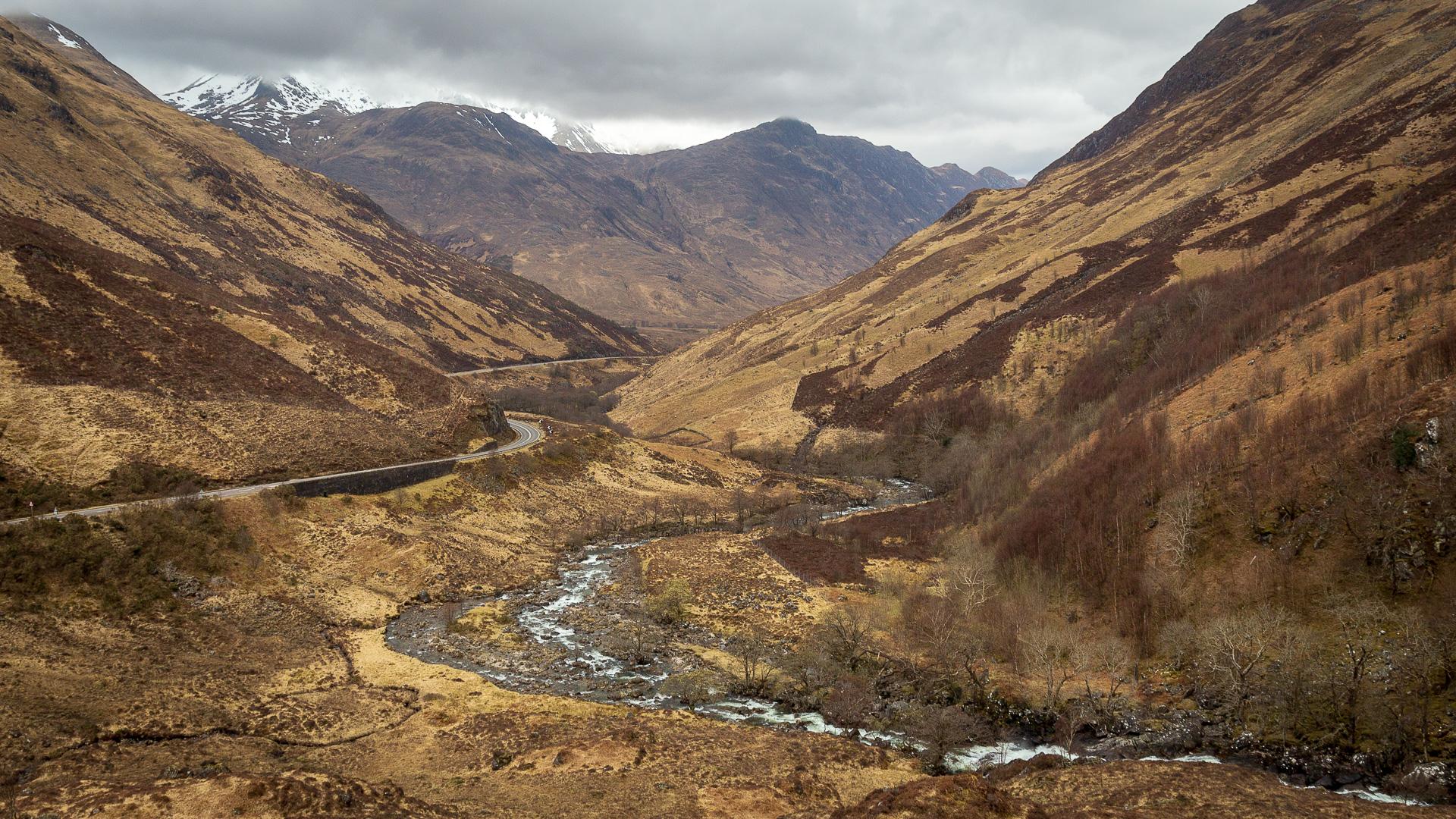 Der River Shiel und die A87