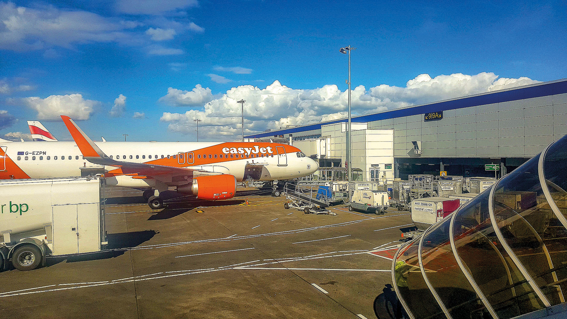 EasyJet Flieger in Edinburgh