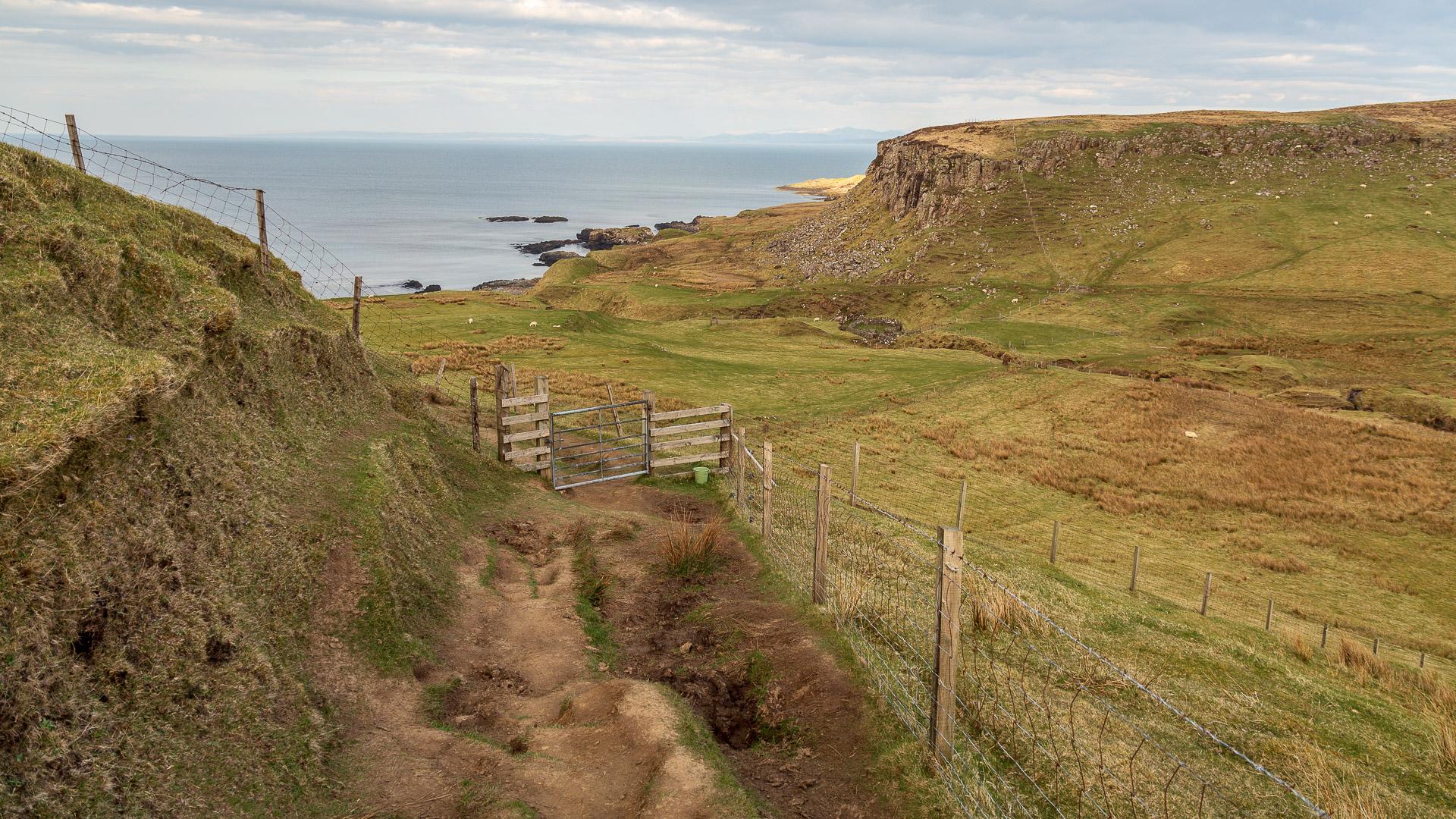 Der Weg hinunter zum alten Croft