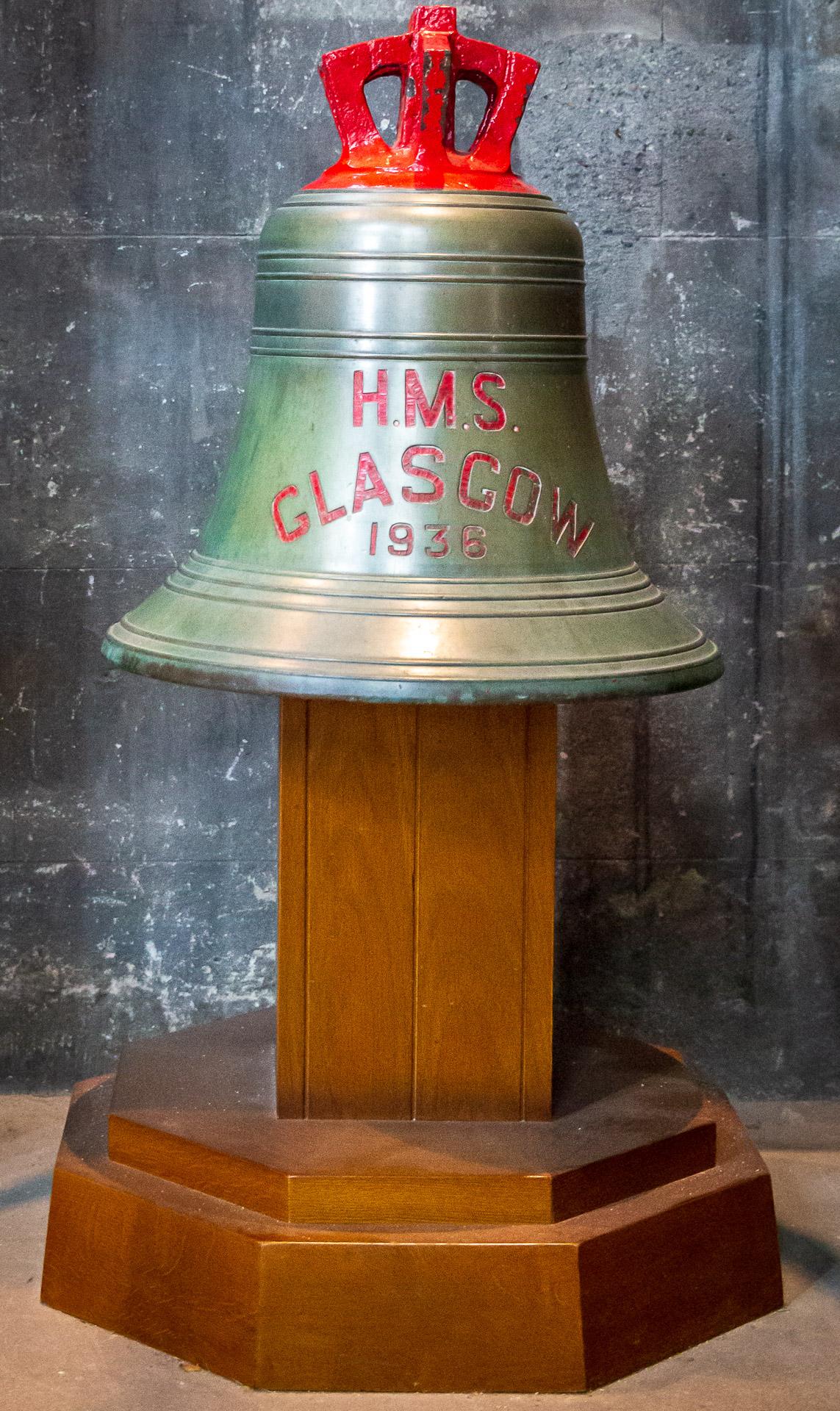 Glocke der HMS Glasgow