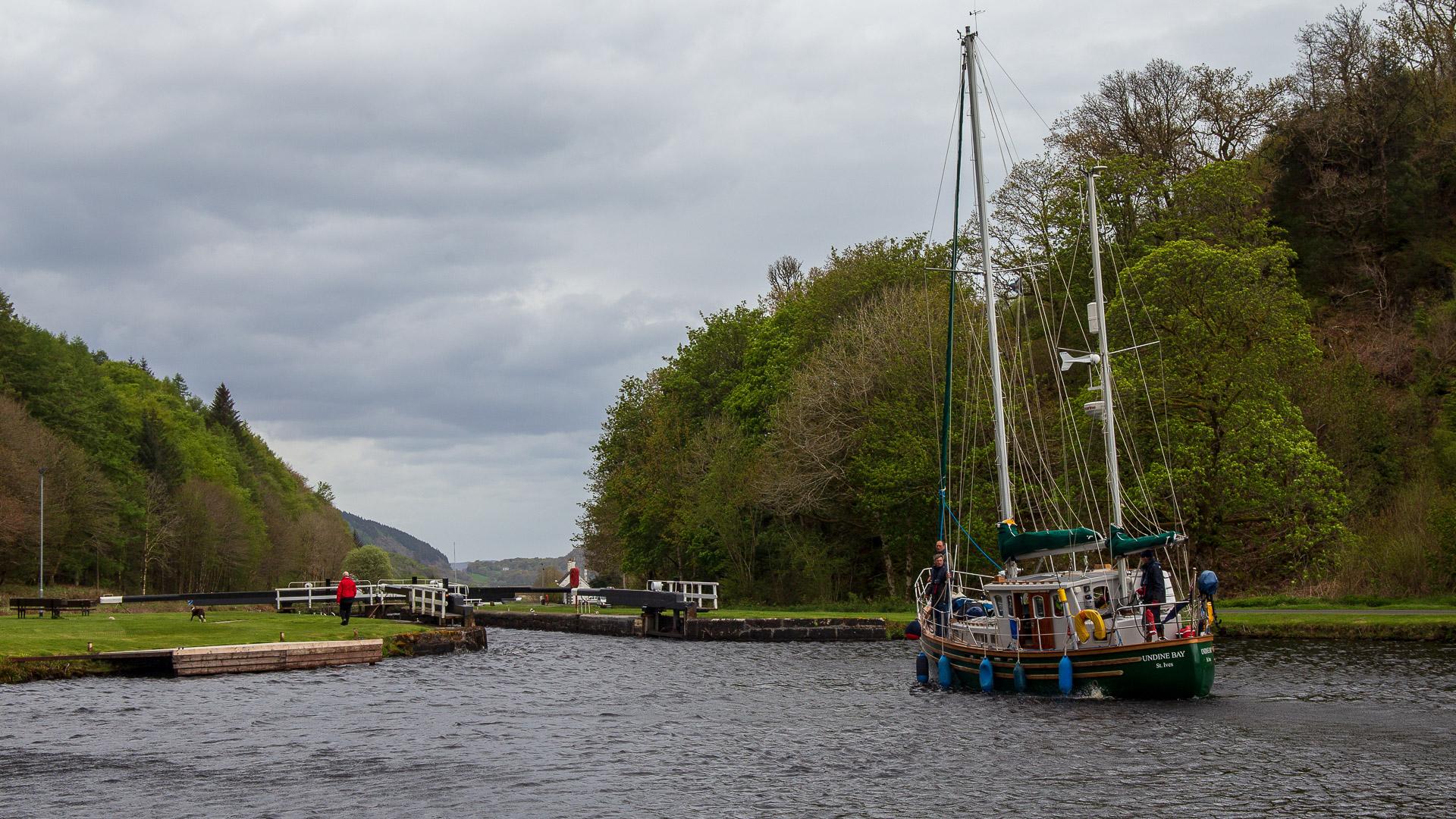 Schiffe auf dem Crinan Canal