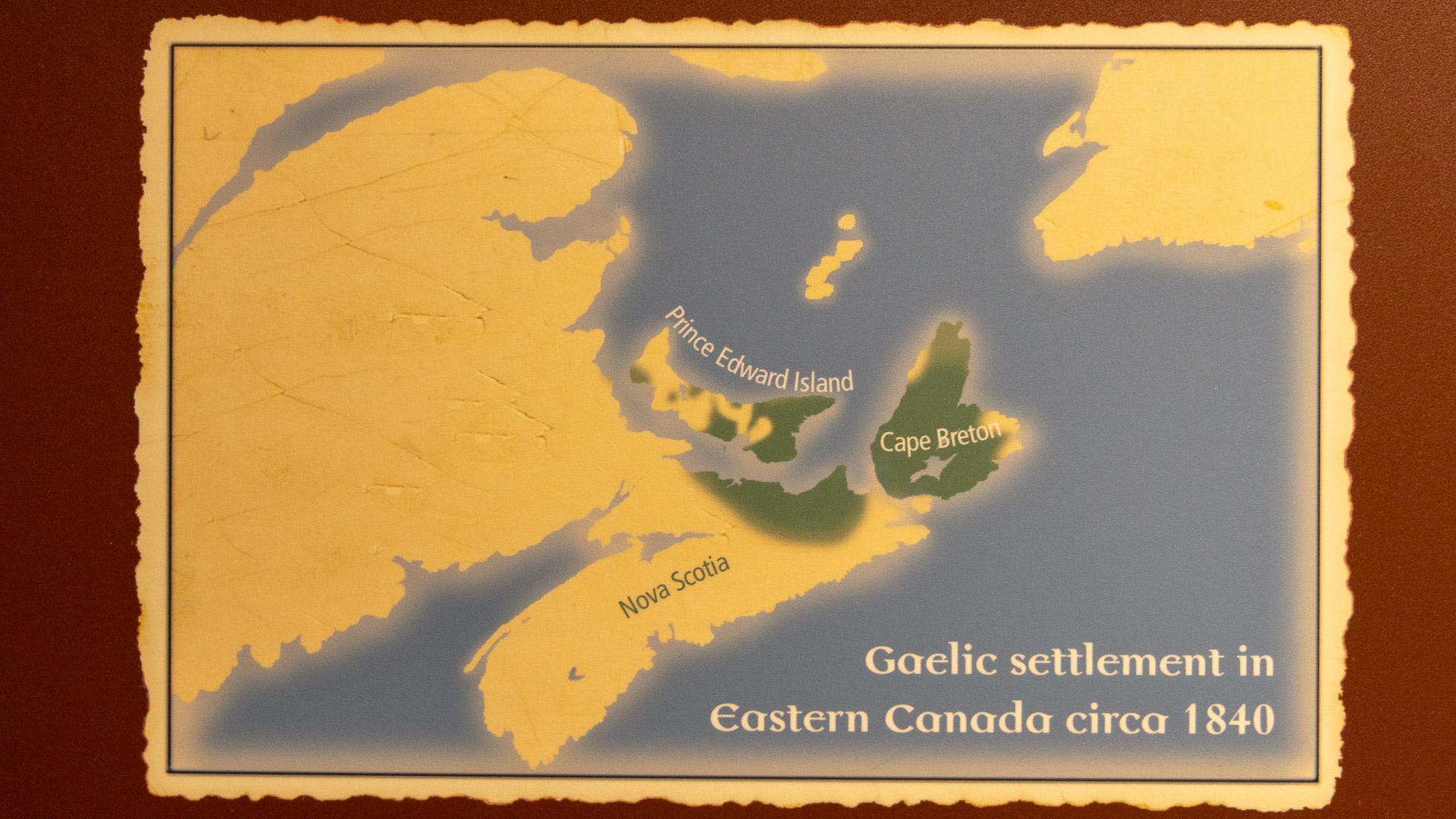 Verbreitung der Highlander in Nova Scotia um 1840