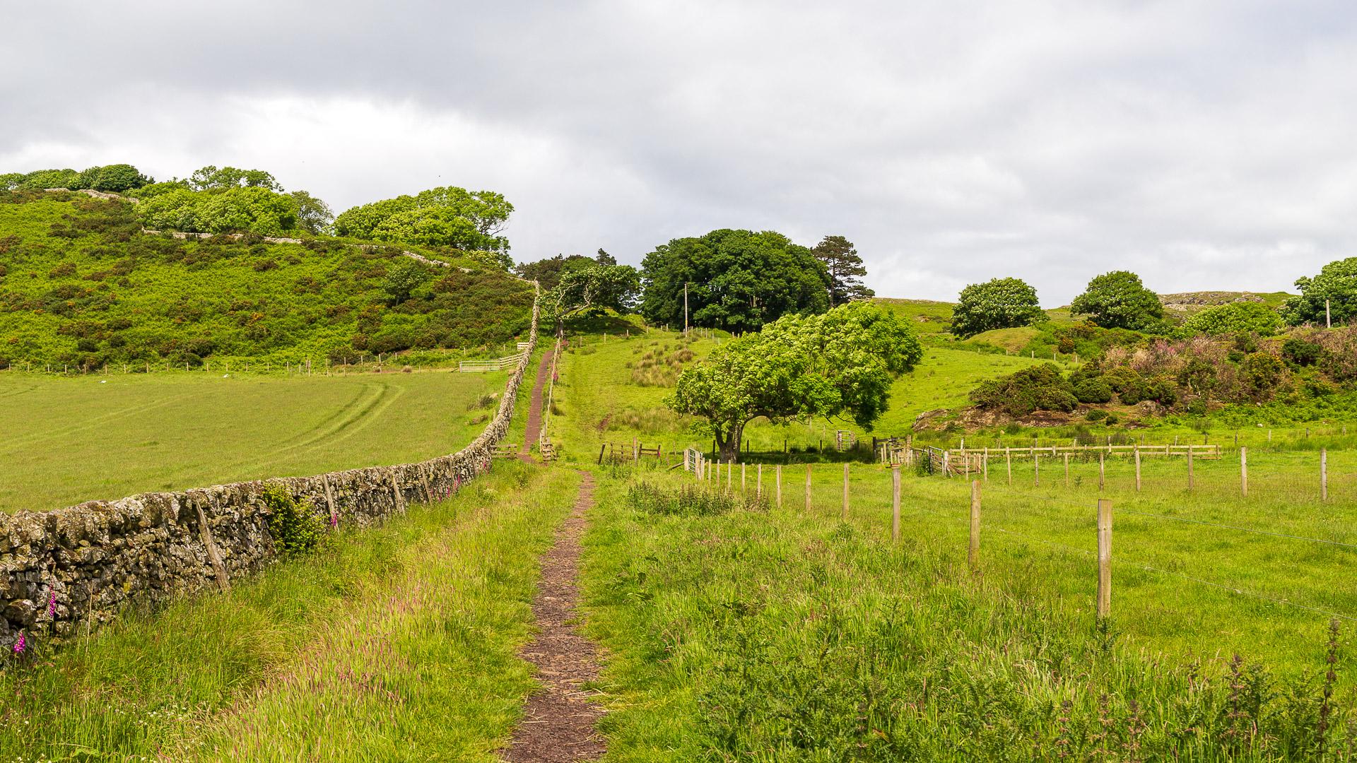 Der Weg zur St Blane's Church