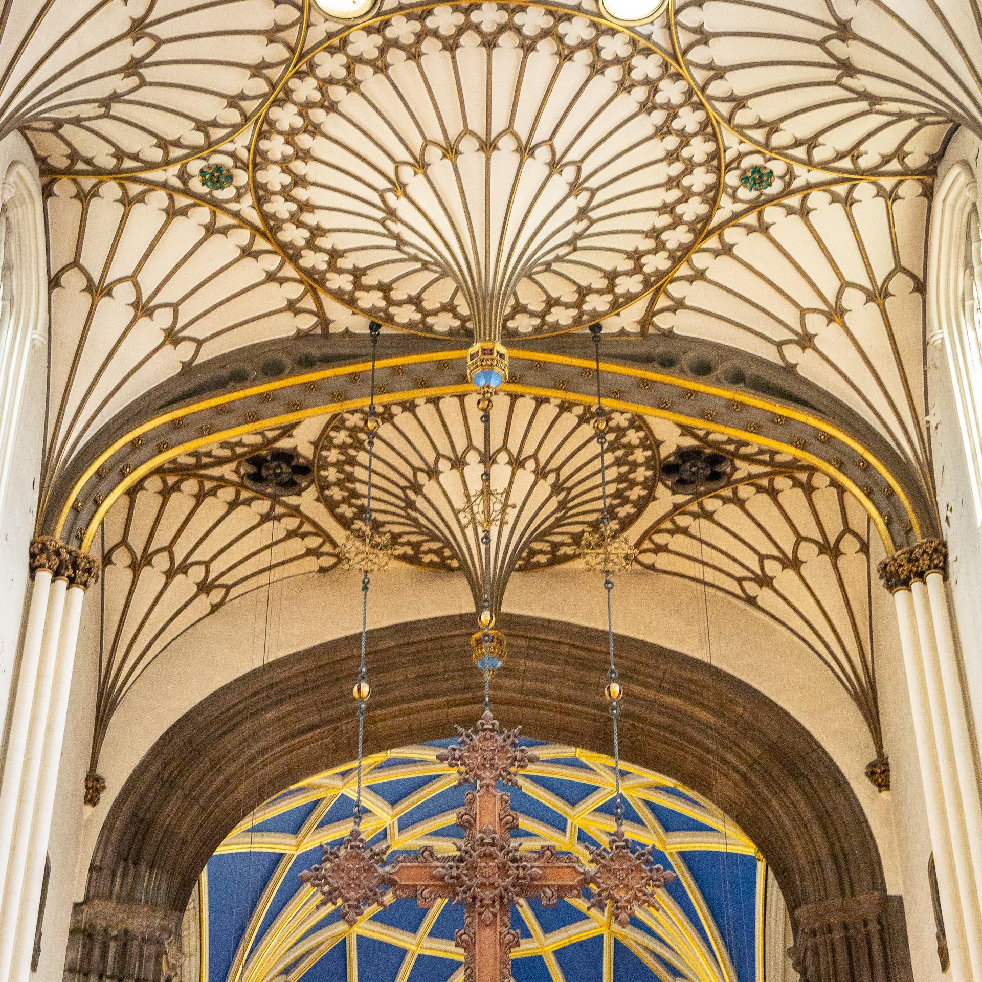 Das Deckengewölbe der St John's Church