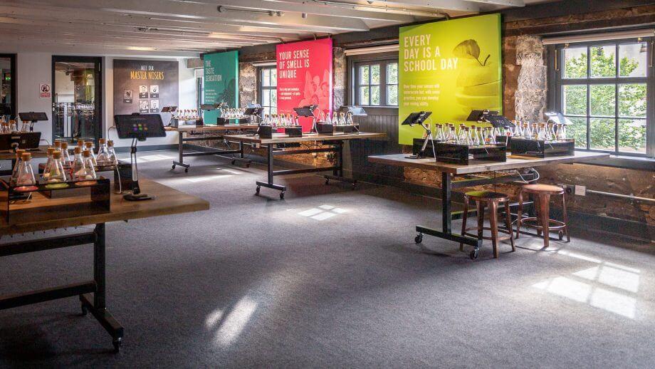 Das Geruchslabor der Holyrood Distillery
