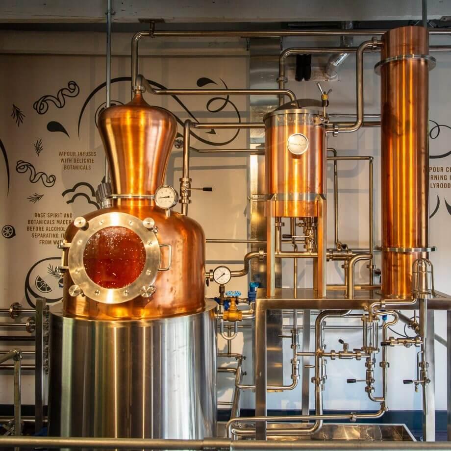 Der Brennapparat für den Gin