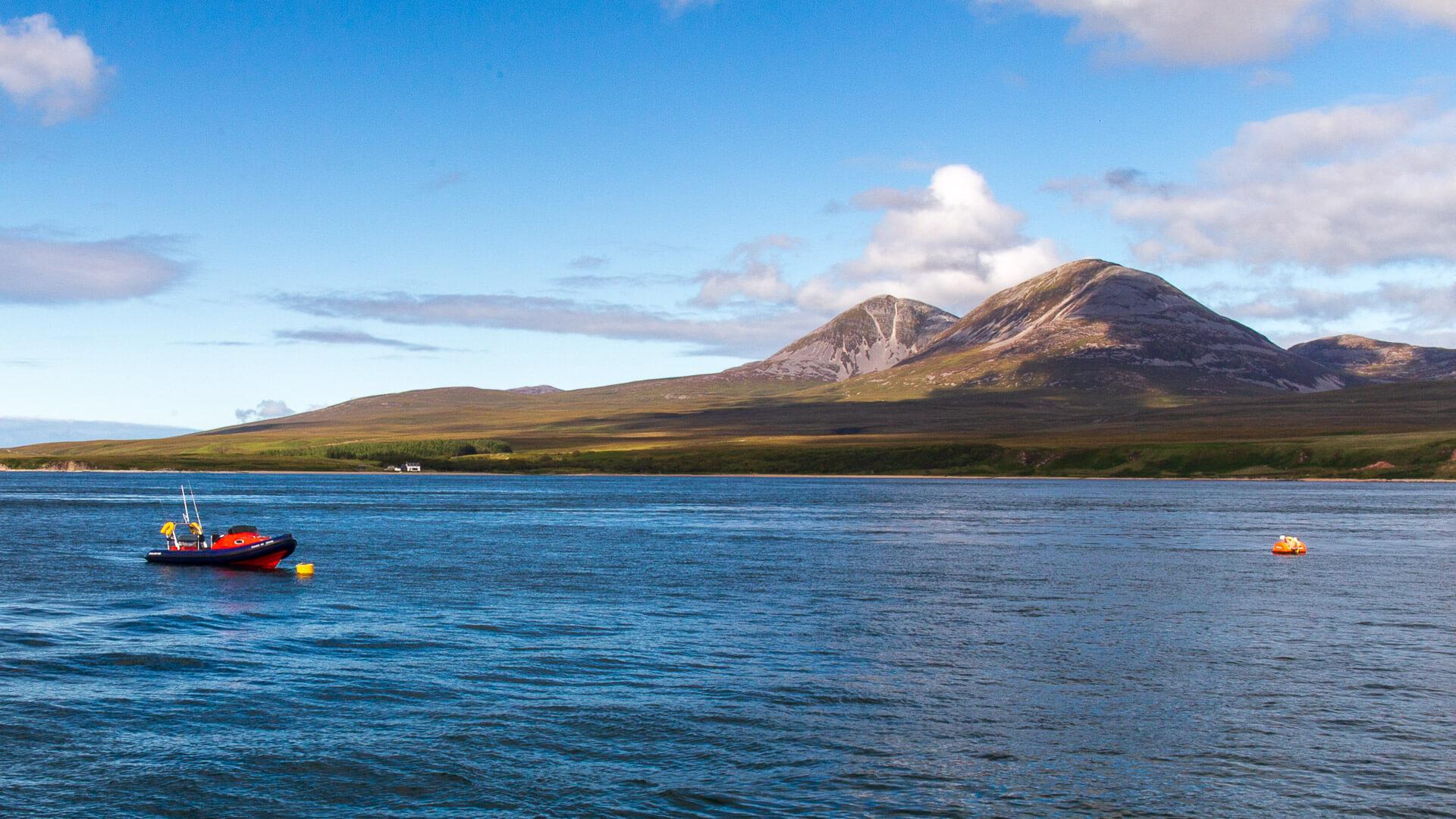 Isle of Jura von Islay aus
