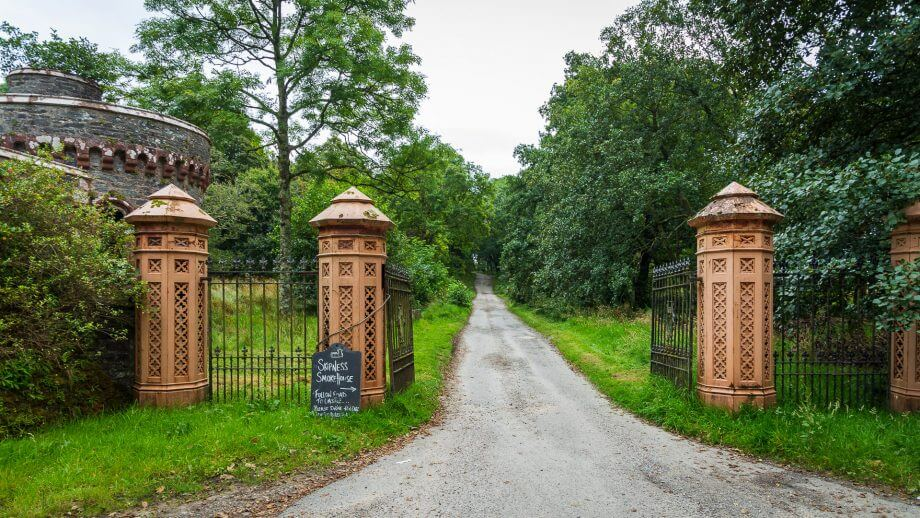 Einfahrt zu Skipness Castle