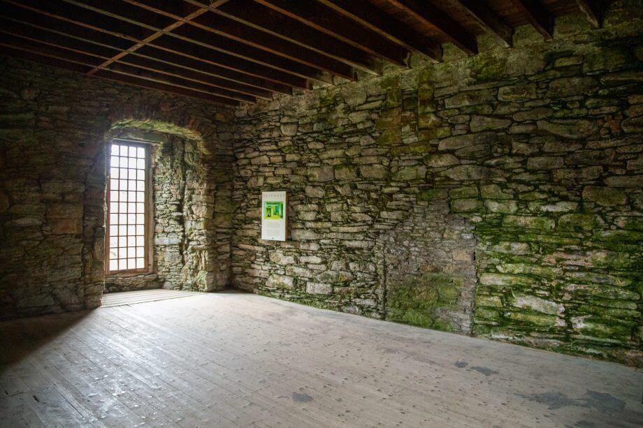 Der ehemalige Hauptraum von Skipness-Castle