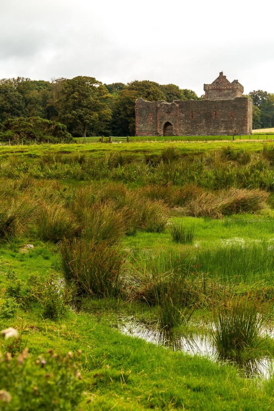 Skipness Castle von der Kirche aus