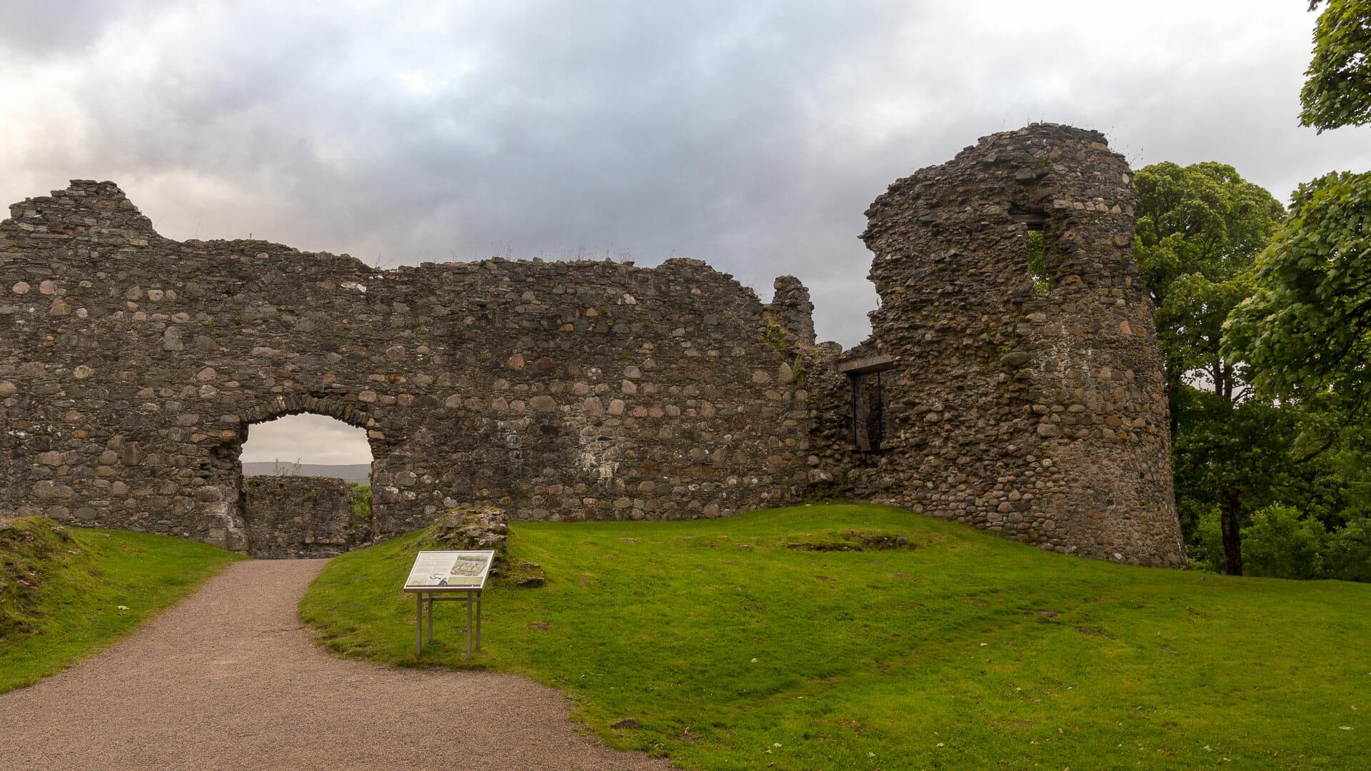 Die Reste von Inverlochy Castle