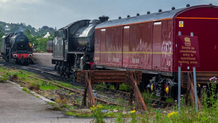 Hier parken die Lokomotiven des Jacobite Steam Train