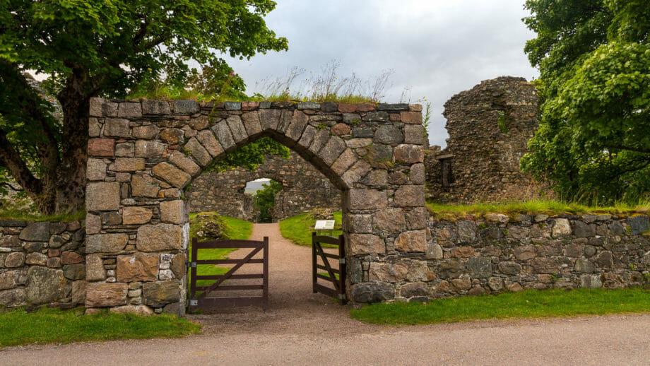 Der Eingang zur Inverlochy Castle