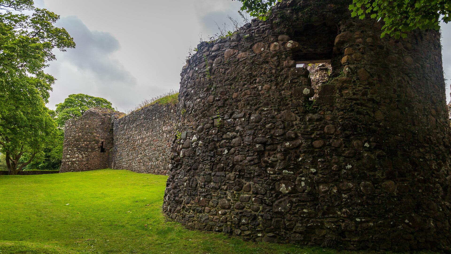 Eine Seite von Inverlochy Castle