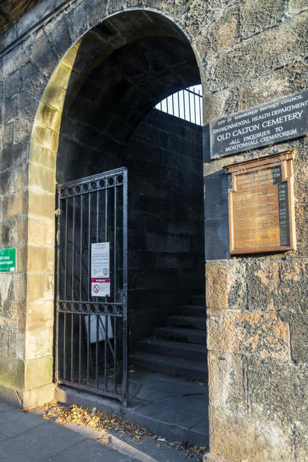 Aufgang zum Old Calton Burial Ground