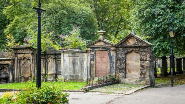 Der Friedhof von St Cuthbert