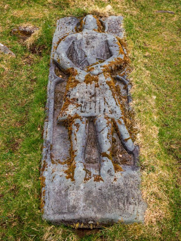 Bild eines mittelalterlichen Kriegers auf der Insel