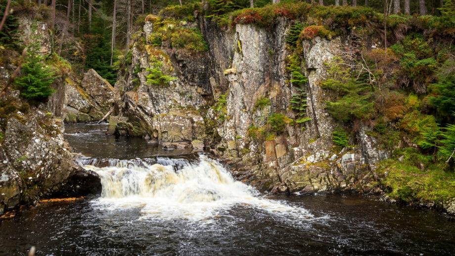 Die letzte Stufe am Ende der Pattack Falls