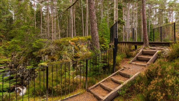 Besucherplattform an den Pattack Falls