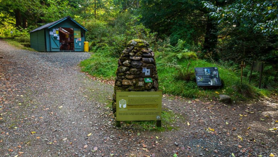 Eingang zu den Woodland Gardens