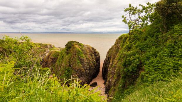 Das Bogle Hole an der Gutcher's Isle