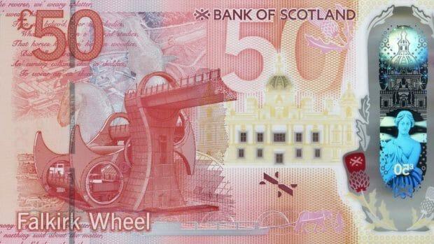 50 Pfund Note Bank of Scotland ab 2021