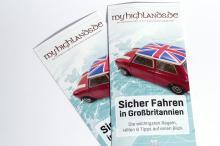Merkblatt 'Autofahren in Großbritannien' als Flyer